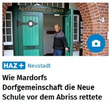 Foto HAZ 20.1.2021©Dorfgemeinschaft Mardorf e.V.